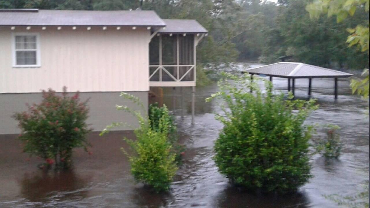 flooded dock