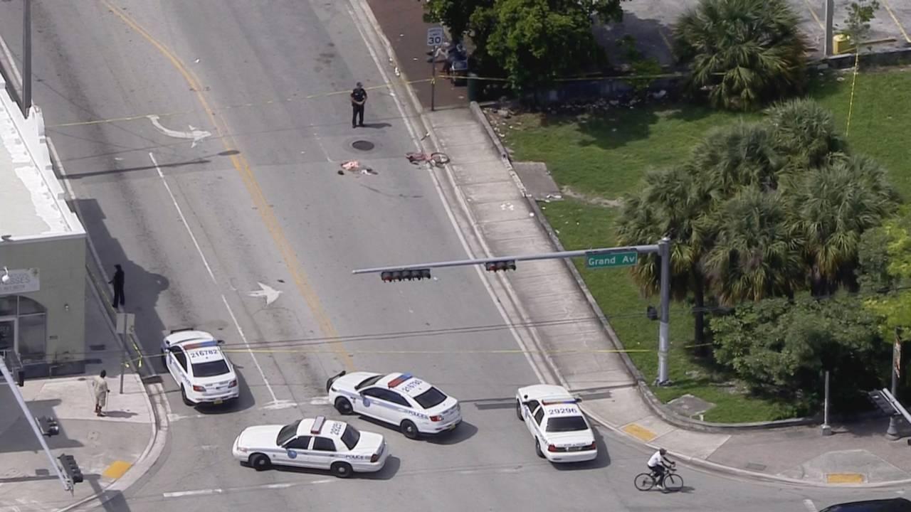 Miami police at scene of machete slashing