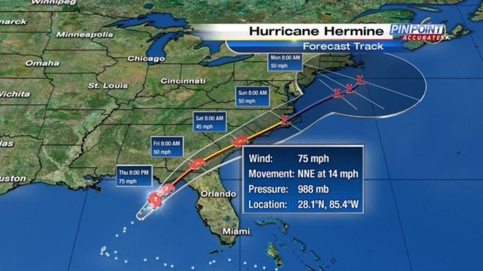 hurricane hermine track