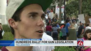 Students rally in Tallahassee for gun control legislation