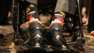 At funeral, George H.W. Bush honors wife's work with his socks