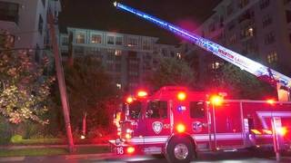 Firefighter battle 8-story apartment fire in Midtown