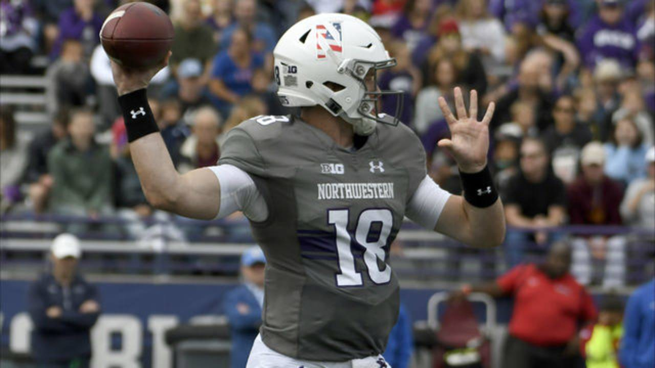 Clayton Thorson Northwestern football 2018