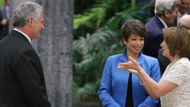 Miguel Diaz-Canel Nancy Pelosi
