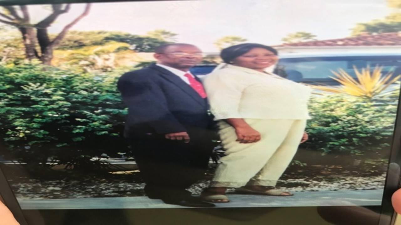 Roosevelt Bernard with wife