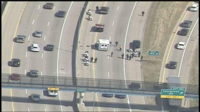 DPD motorcycle crash scene I-96