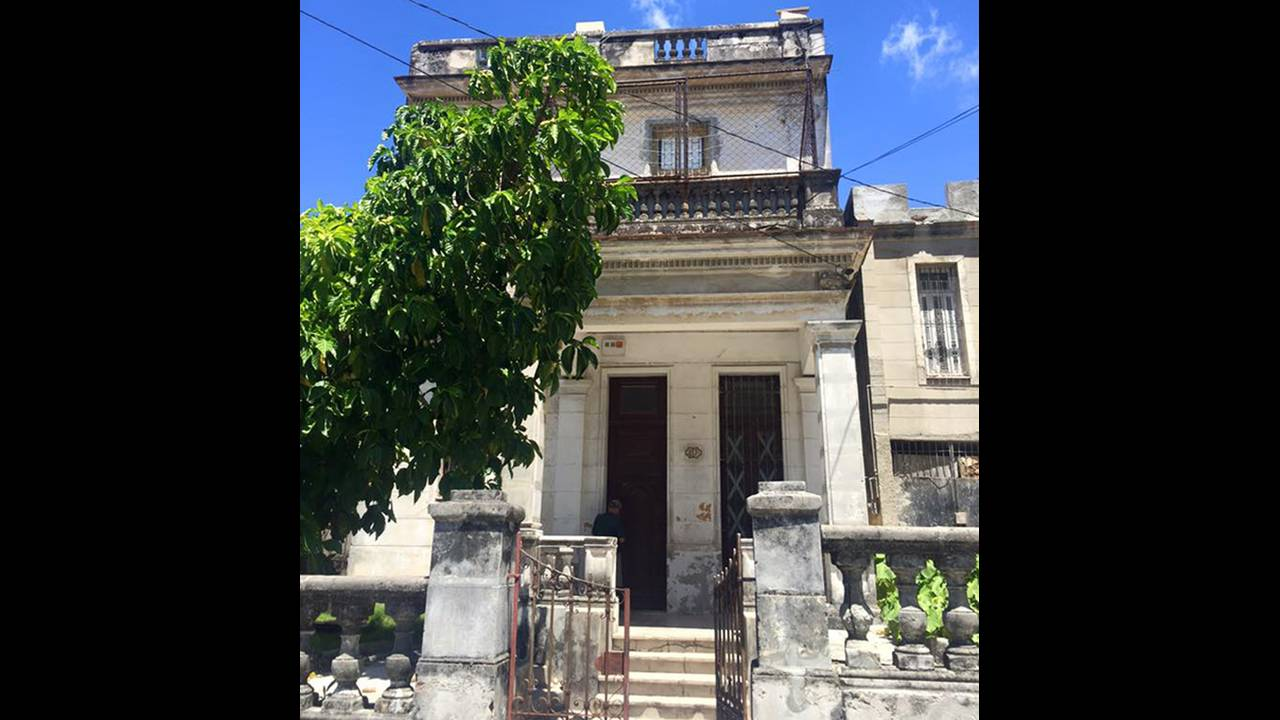 This is the home that belongs to the family of Giancarlo Sopo in Havana, Cuba.