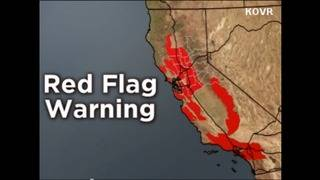 Red flag warning raises wildfire fears