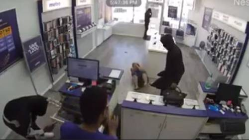 Grandmother injured during armed robbery at phone store