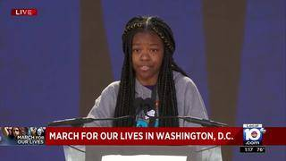 March for Our Lives in Washington:  Never Again activist Mya Middleton&hellip&#x3b;
