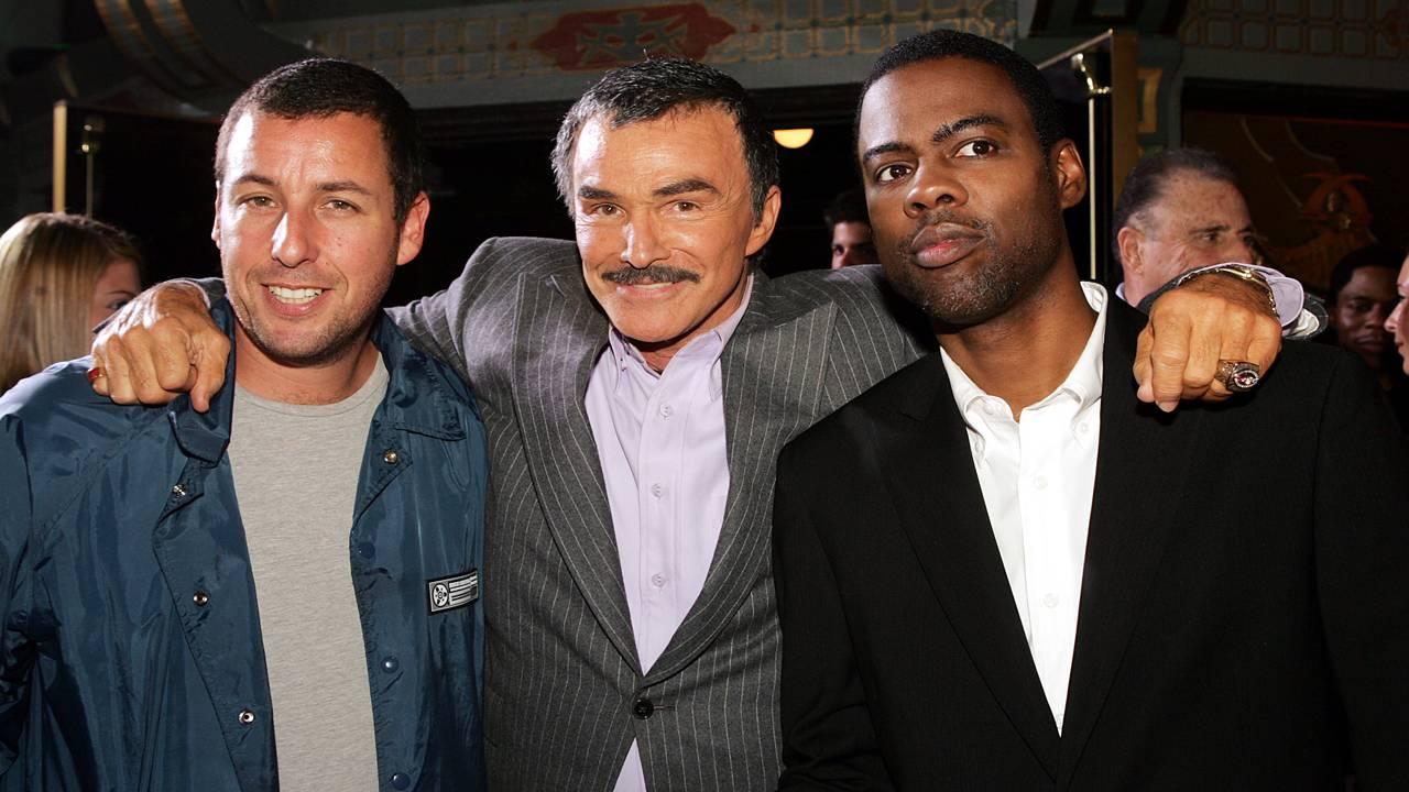 Burt Reynolds, Adam Sandler and Chris Rock