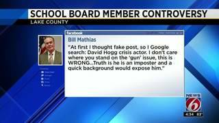 Lake County School Board member walks back Parkland 'crisis actor' post