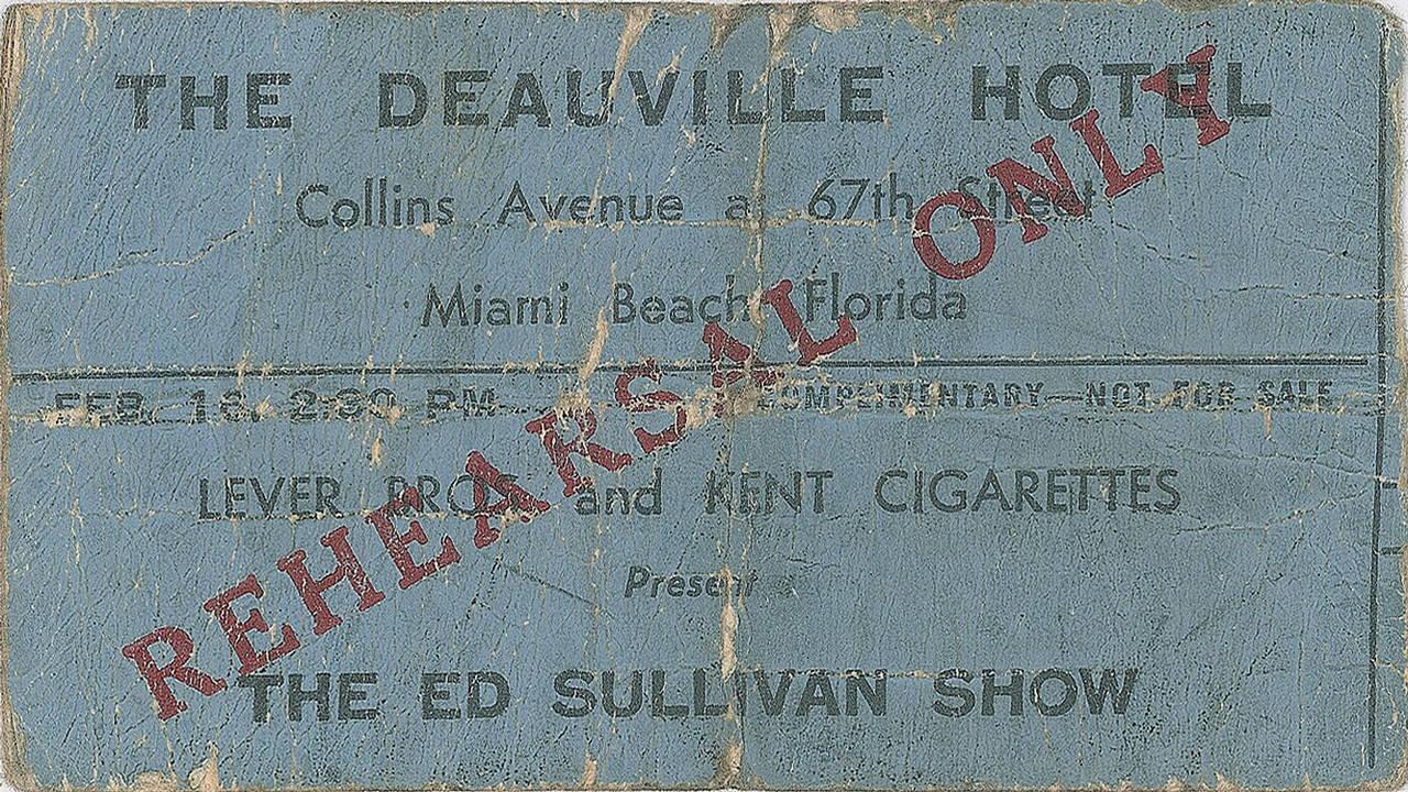 Deauville Hotel Beatles rehearsal ticket