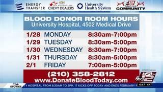 KSAT Community Blood Drive starts today at University Hospital