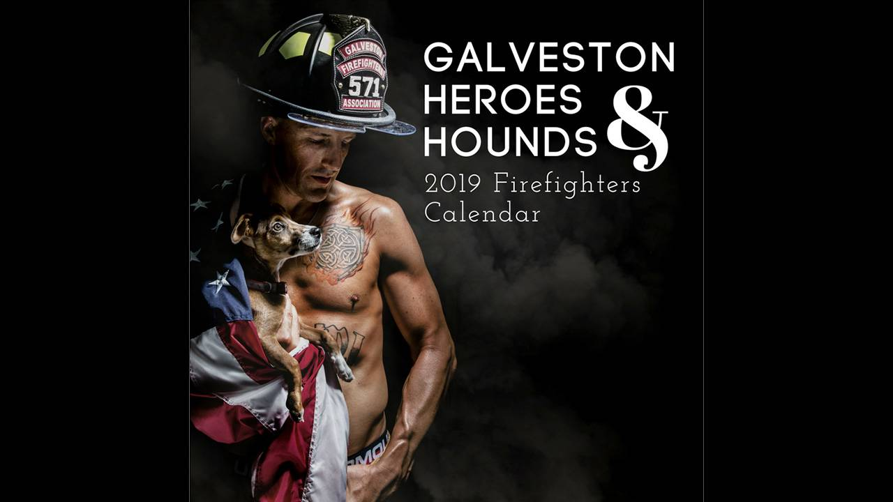 5f0a25e1964 Muscle-bound firefighters shooting 2019 calendar in Galveston