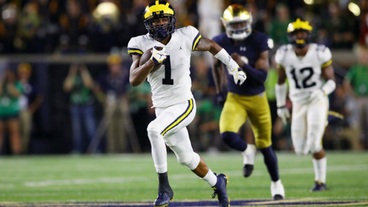 Ambry Thomas kick return touchdown Michigan football vs Notre Dame 2018