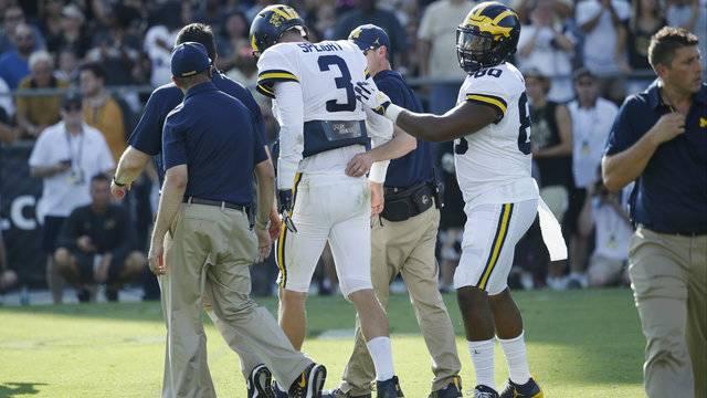 Wilton Speight injury Michigan football vs Purdue