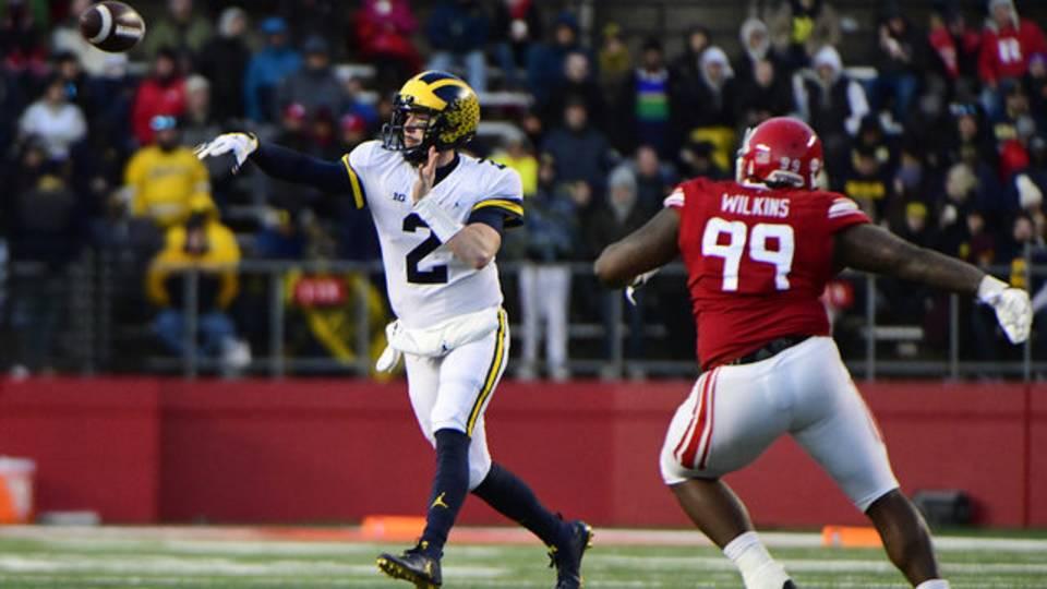 Shea Patterson Michigan football vs Rutgers 2018