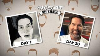 KSAT No Shave progress Day 1 to Day 30