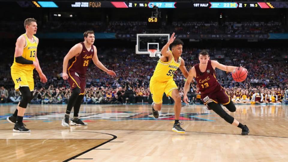 Eli Brooks Michigan basketball vs Loyola-Chicago 2018