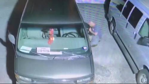 Man caught on camera siphoning gas out of day care vans