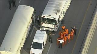 Corrections bus crash causes brief shutdown of Dolphin Expressway