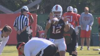 Rosier seeking to keep starting spot as Hurricanes practice opens
