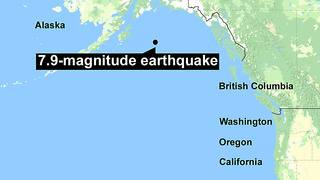 Tsunami warnings canceled after magnitude-7.9 earthquake off Alaska