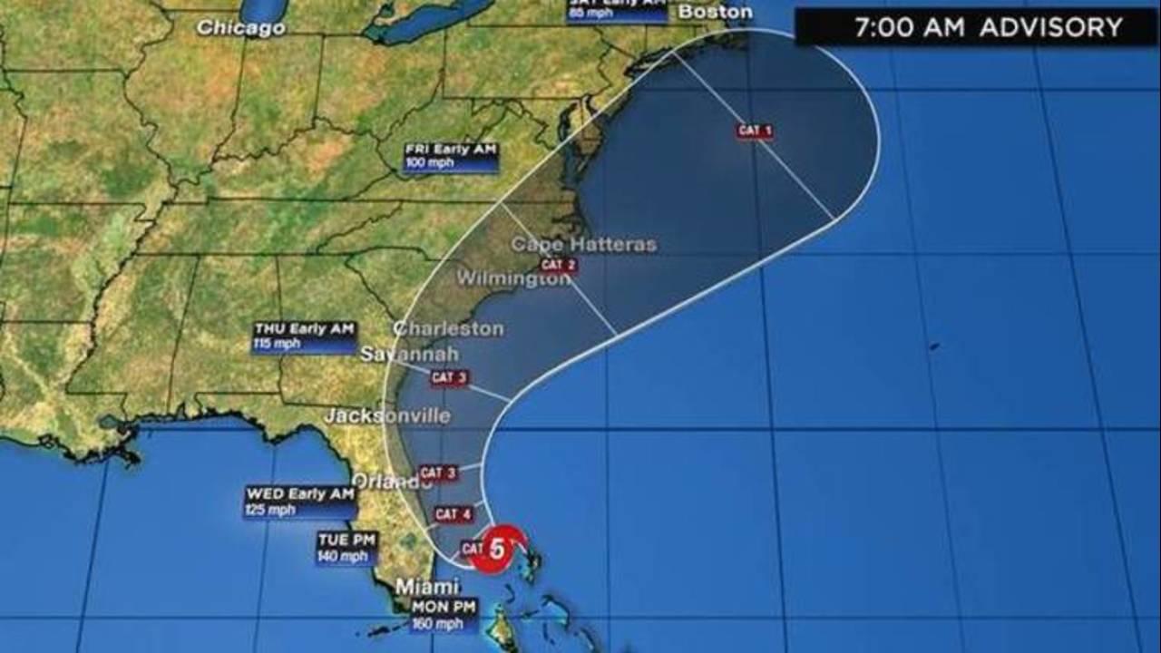 Hurricane Dorian track 7am 9-2-19