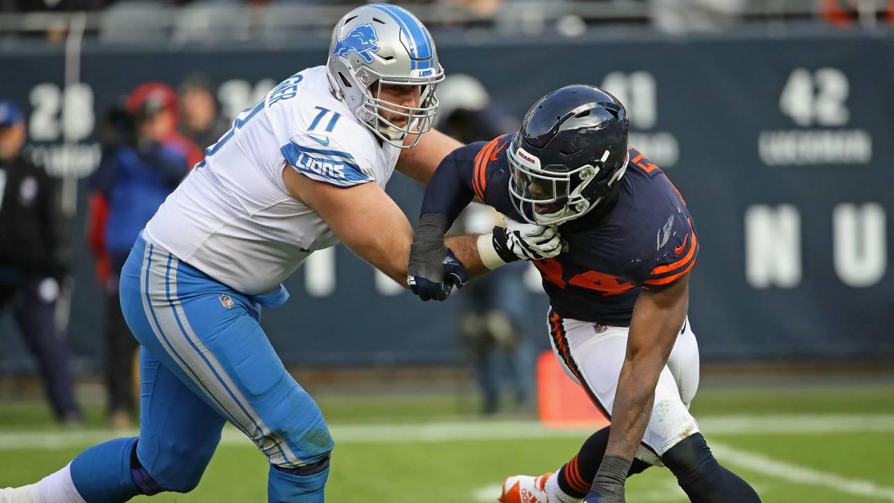Ricky Wagner Rick Wagner Detroit Lions vs Bears 2017