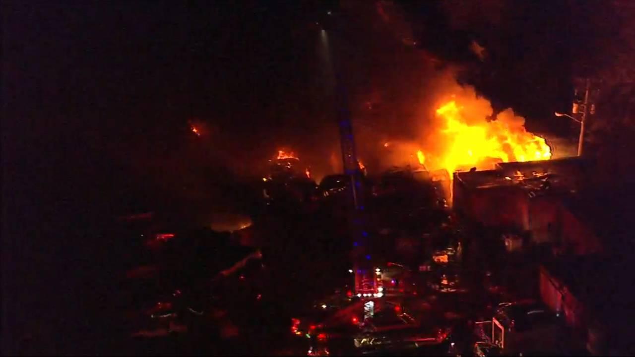 Live video massive fire